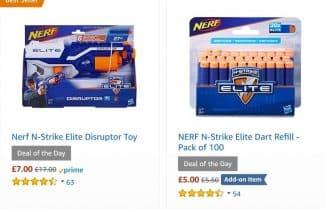 אמזון בריטניה: מבחר מוצרי NERF בהנחות משתלמות במיוחד!