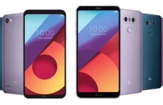חברת LG מציגה צבעים חדשים ל-LG G6 ו-LG Q6