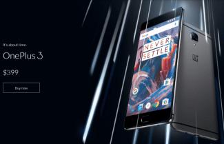 הוכרז: OnePlus 3 עם מסך 5.5 אינץ' FHD, גוף מתכתי וסוללת 3,000mAh; המחיר 399 דולרים