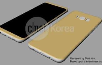 תרשימים חושפים את עיצוב ומידות ה-Galaxy S8 ו-Galaxy S8 Plus