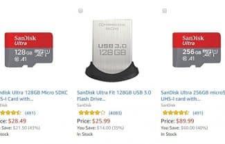 """אמזון ארה""""ב: מגוון מוצרי SanDisk בהנחות ענק!"""