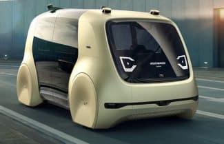 הרכב האוטונומי-עתידני של פולקסווגן נראה כמו דמות מסרטי פיקסאר