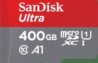 לשעות הקרובות: כרטיס זיכרון SanDisk Ultra 400GB במחיר מדהים!