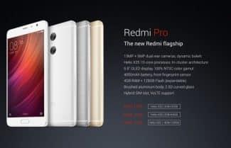 הוכרז: Xiaomi Redmi Pro – מסך 5.5 אינץ', שתי מצלמות אחוריות וערכת שבבים Helio X25
